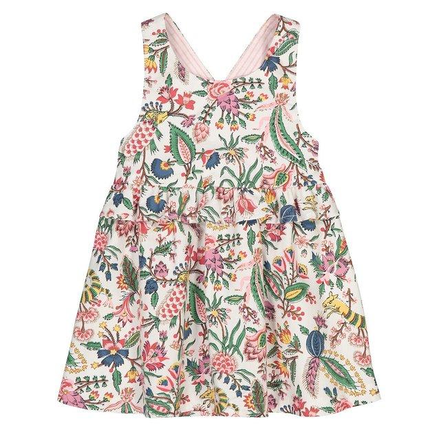 Εμπριμέ φόρεμα με τιράντες, 3 μηνών - 3 ετών