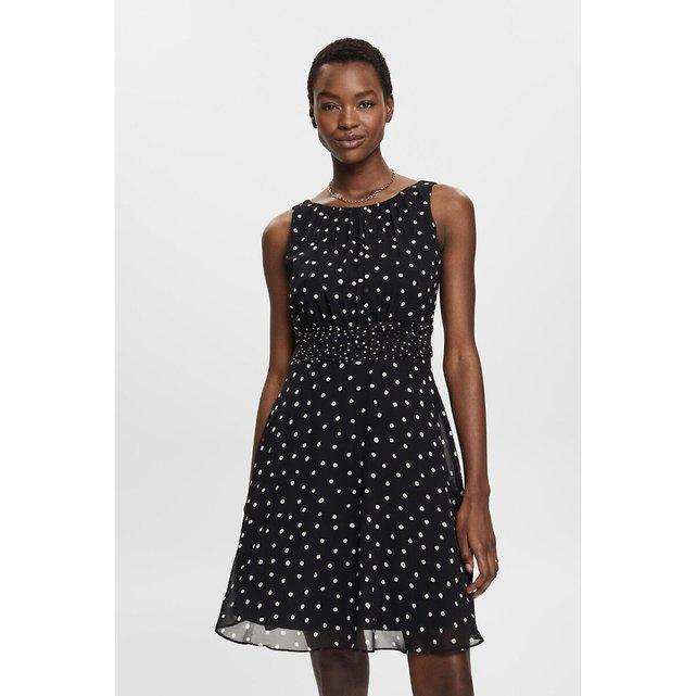 Κοντό αμάνικο φόρεμα με μοτίβα