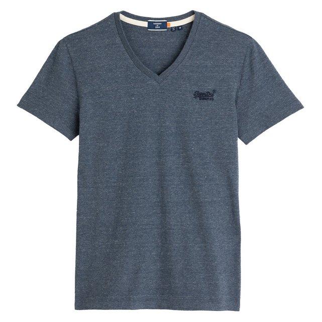 Κοντομάνικο T-shirt με V, Orange Label Classic