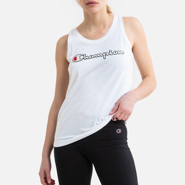 Αμάνικη μπλούζα με λογότυπο στο στήθος