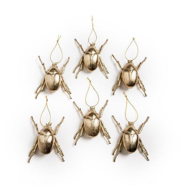 Σετ 6 κρεμαστά διακοσμητικά τοίχου από ρητίνη, Insectia
