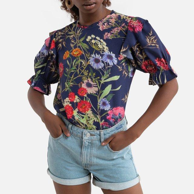 Φλοράλ μπλούζα με μανίκια 3 4, EGYPTE