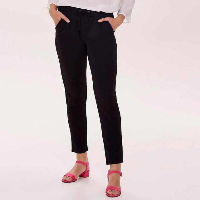 Slim παντελόνι με λάστιχο στη μέση