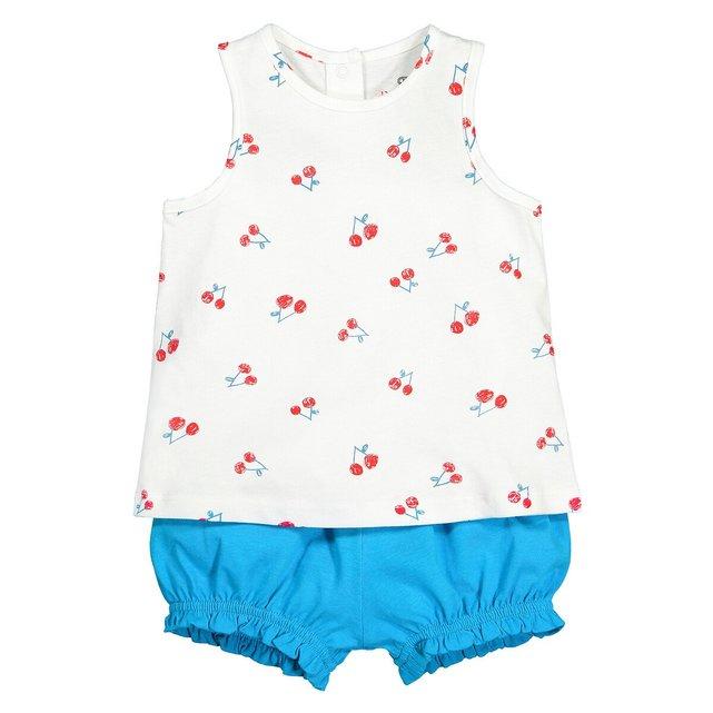 Σύνολο μπλούζα και φουφούλα από οργανικό βαμβάκι, 1 μηνός - 4 ετών