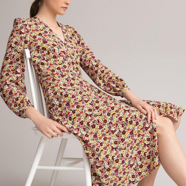 Μακρύ φόρεμα-φάκελος με φλοράλ μοτίβο