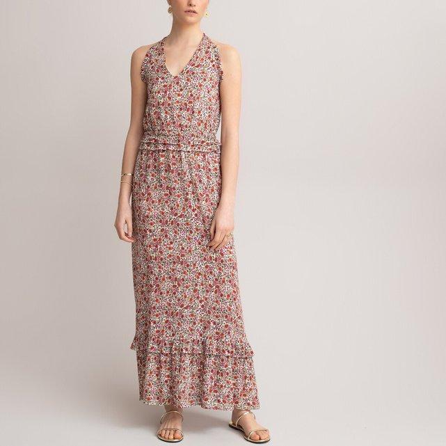 Μακρύ εβαζέ φόρεμα με φλοράλ μοτίβο