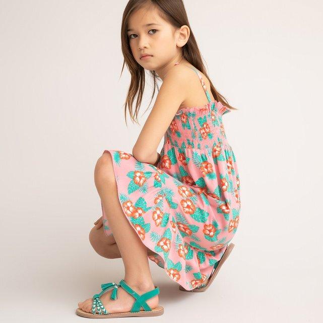 Φόρεμα με τιράντες και χαβανέζικο μοτίβο, 3-12 ετών
