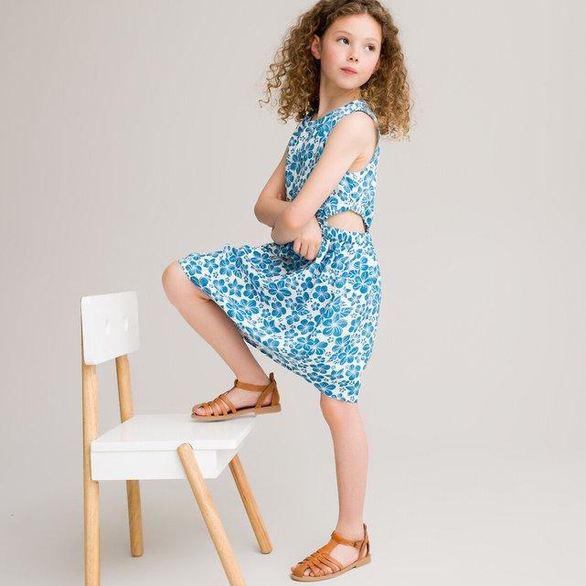 Αμάνικο φόρεμα με χαβανέζικο μοτίβο, 3-12 ετών