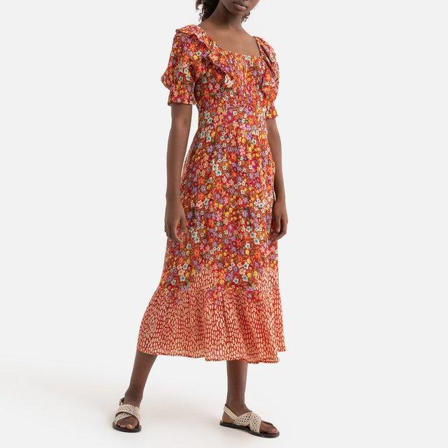 Μακρύ εμπριμέ φόρεμα, SOLOGNE