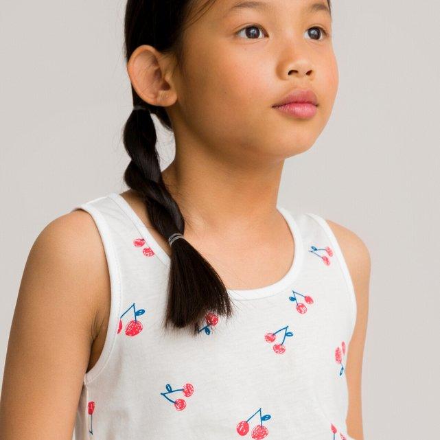 Αμάνικη μπλούζα με μοτίβο κεράσια, 3-12 ετών
