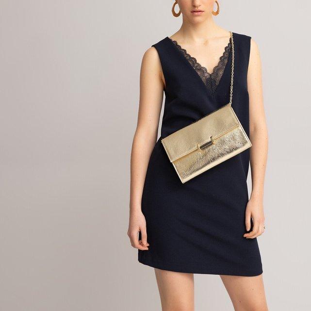 Αμάνικο φόρεμα με V ντεκολτέ και δαντέλα