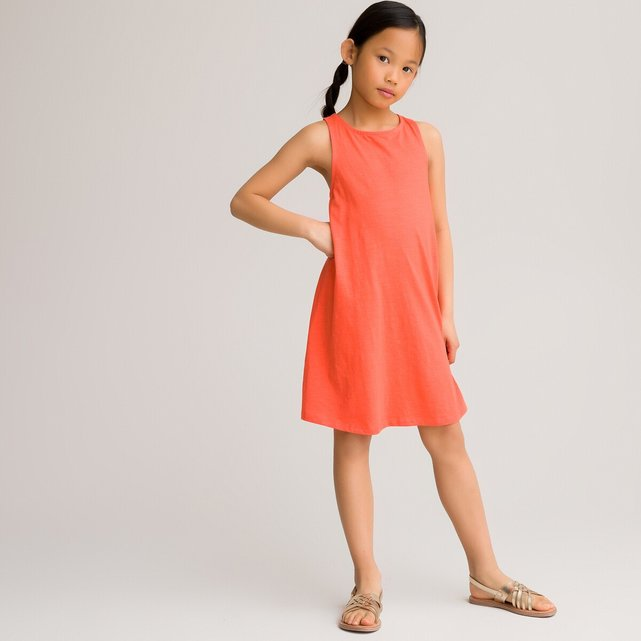 Αμάνικο φόρεμα από βιολογικό βαμβάκι, 3-12 ετών