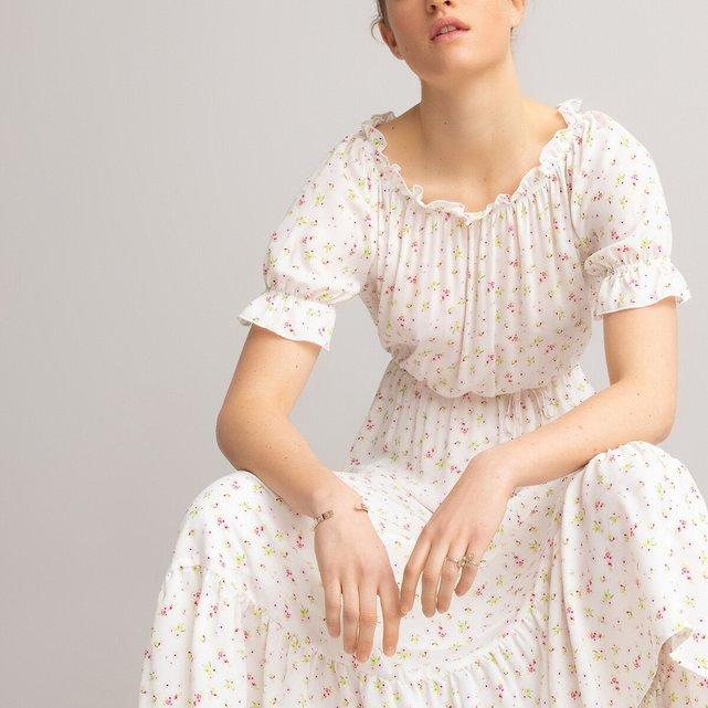Μακρύ φόρεμα με βολάν στη βάση