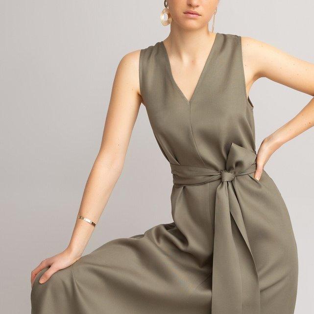 Αμάνικο μακρύ φόρεμα από lyocell