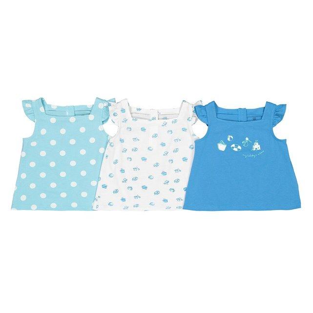 Σετ 3 μπλούζες από οργανικό βαμβάκι, 3 μηνών - 4 ετών