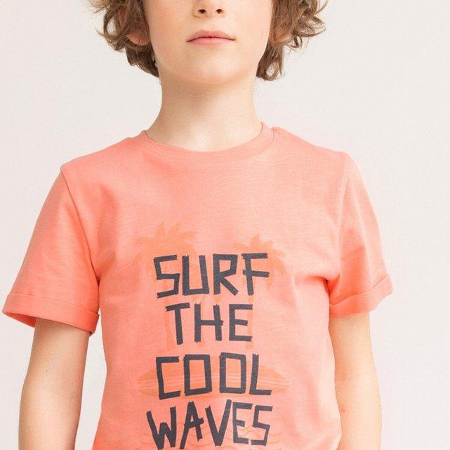 Μπλούζα από οργανικό βαμβάκι με μήνυμα, 3-12 ετών