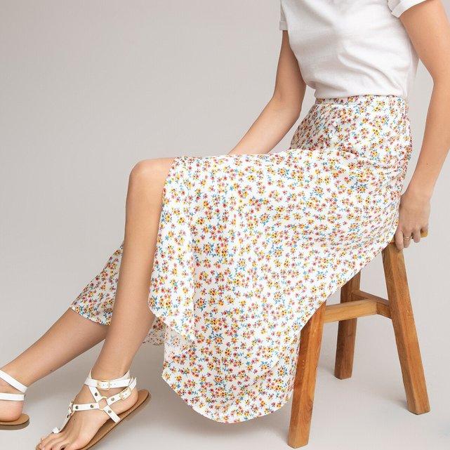 Μακριά εβαζέ φούστα με φλοράλ μοτίβο