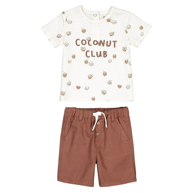 Σύνολο κοντομάνικη μπλούζα και σορτς, 3 μηνών - 3 ετών