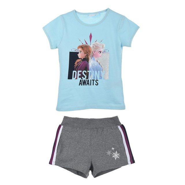 Σύνολο T-shirt και σορτς Frozen, 4-8 ετών