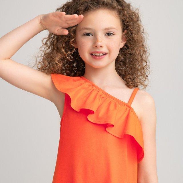 Φόρεμα με βολάν από οργανικό βαμβάκι, 3-12 ετών