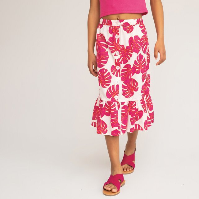 Φλοράλ φούστα με βολάν, 3-12 ετών