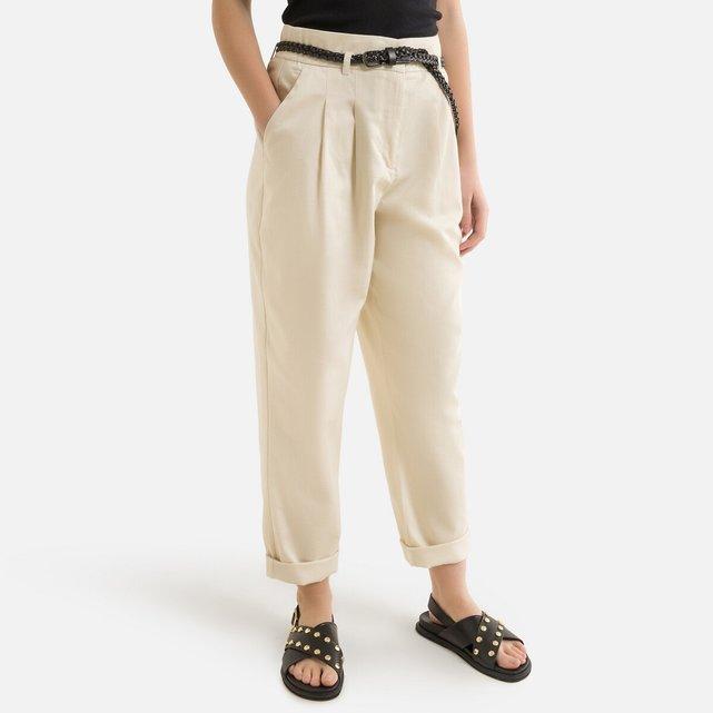 Ψηλόμεσο σιγκαρέτ παντελόνι με ζώνη