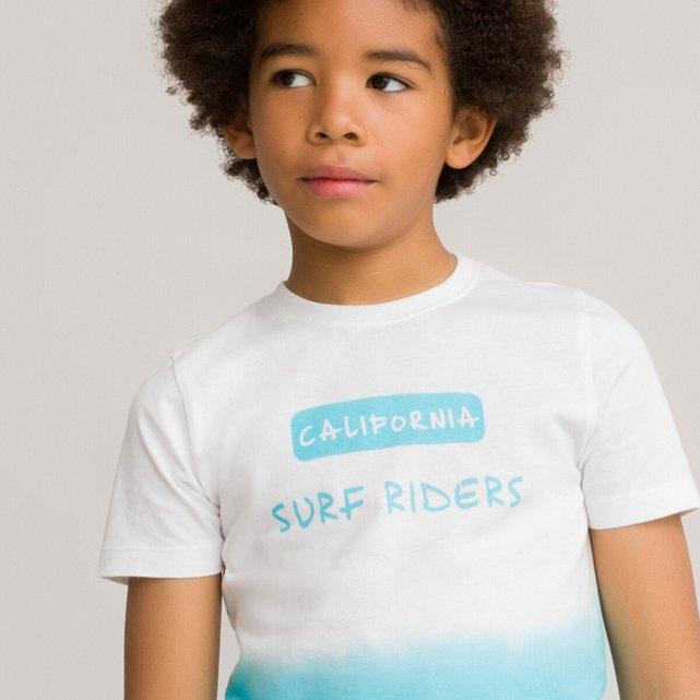 Κοντομάνικο T-shirt με μήνυμα από οργανικό βαμβάκι, 3-12 ετών