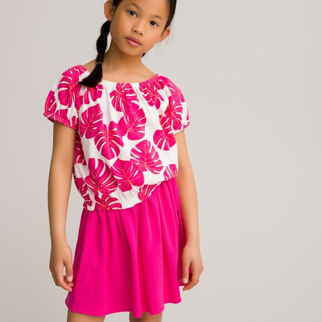 Εμπριμέ μπλούζα από οργανικό βαμβάκι, 3-12 ετών