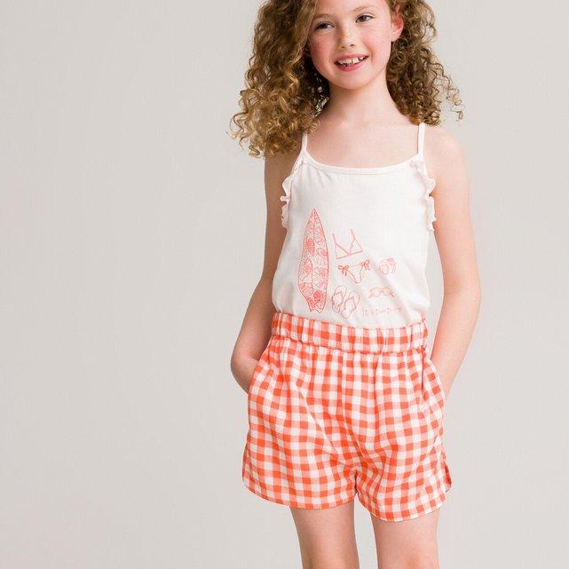 Μπλούζα από οργανικό βαμβάκι με λεπτές τιράντες, 3-12 ετών
