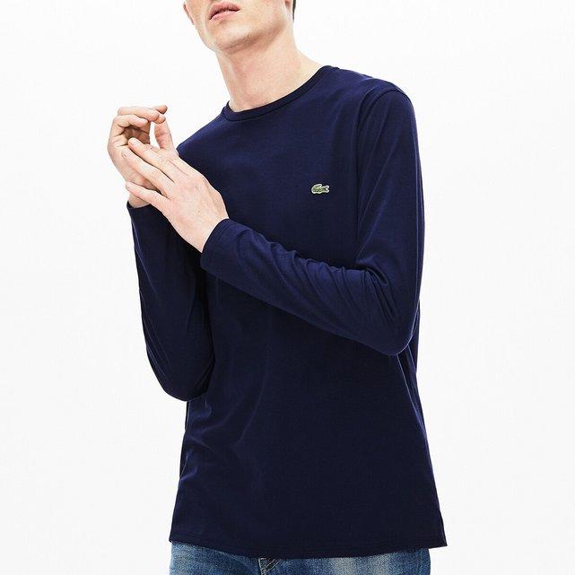 Μακρυμάνικη μπλούζα από βαμβακερό ζέρσεϊ