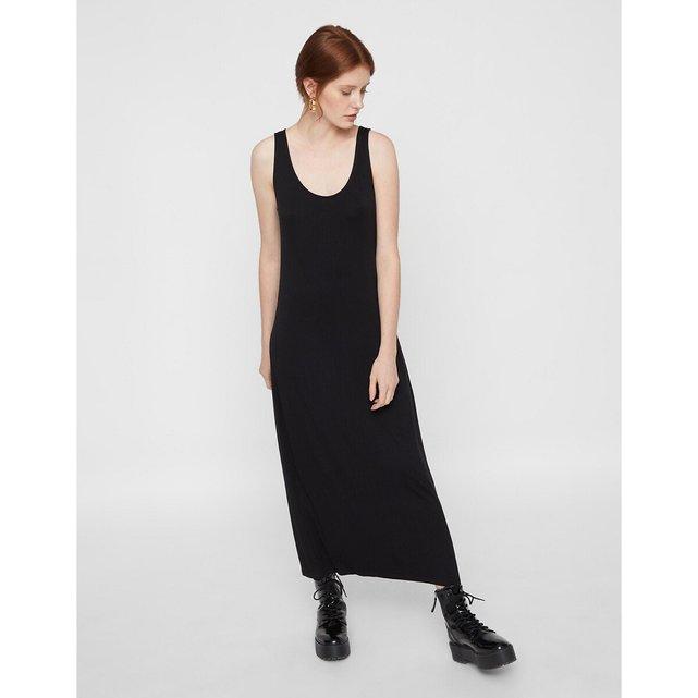 Μακρύ εφαρμοστό φόρεμα με τιράντες