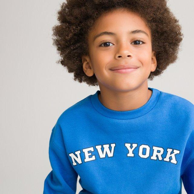 Φούτερ με στάμπα New York μπροστά, 3-12 ετών