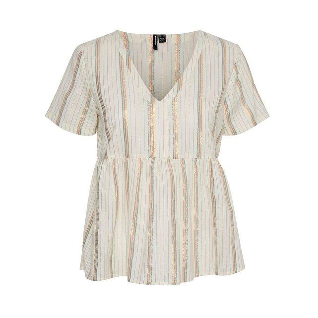 Άνετη μπλούζα με ρίγες και V