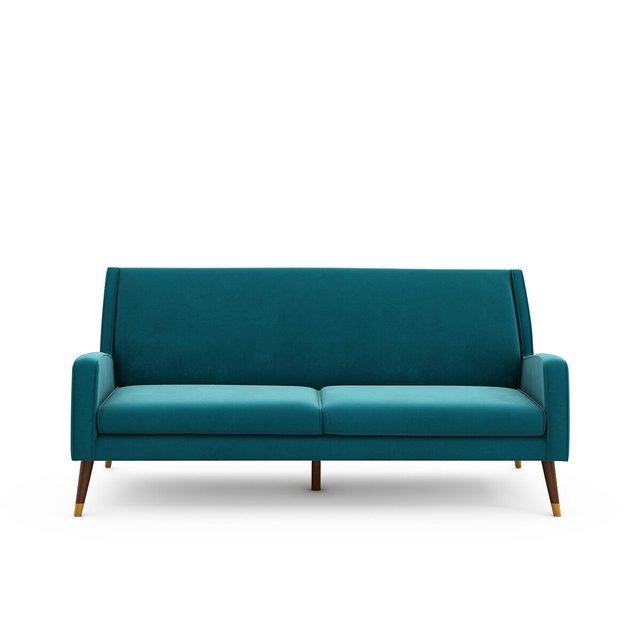 Τριθέσιος βελούδινος καναπές, (Y)