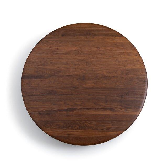 Επιφάνεια τραπεζιού από μασίφ ξύλο καρυδιάς Δ130 εκ., Hisia