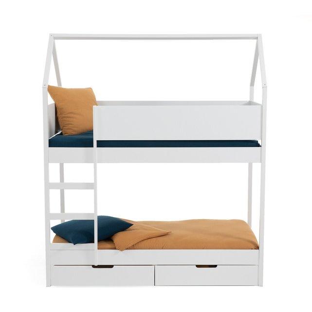 Διπλή κουκέτα με συρτάρια και τάβλες, Solal