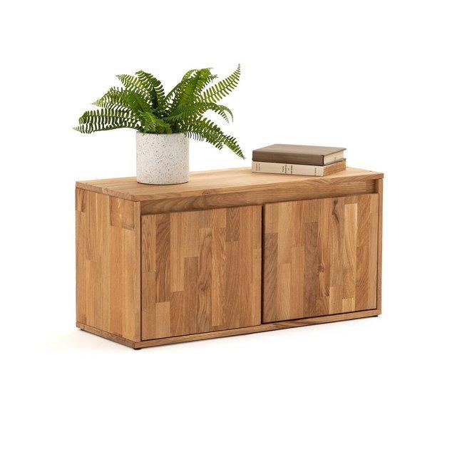 Ντουλάπι αποθήκευσης από μασίφ ξύλο δρυ με 2 πόρτες, Edgar