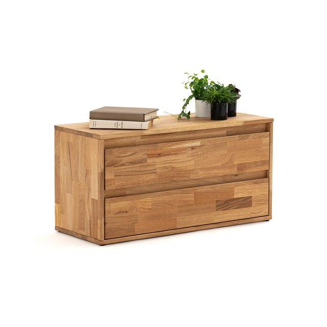 Συρταριέρα από μασίφ ξύλο δρυ με 2 συρτάρια, Edgar