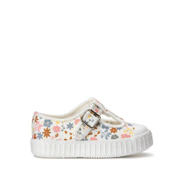 Πάνινα παπούτσια με φλοράλ μοτίβο, μεγέθη 20-25