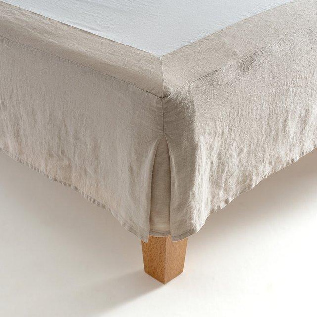 Κάλυμμα βάσης κρεβατιού από προπλυμένη κάνναβη, Lineo