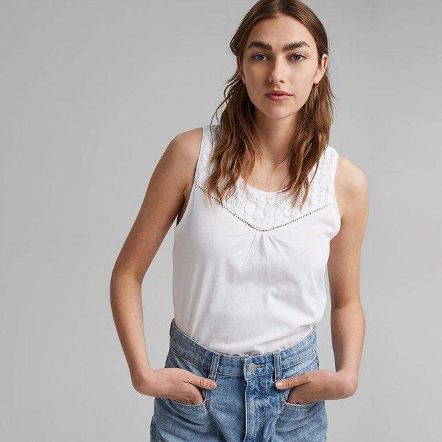 Αμάνικη μπλούζα με στρογγυλή λαιμόκοψη
