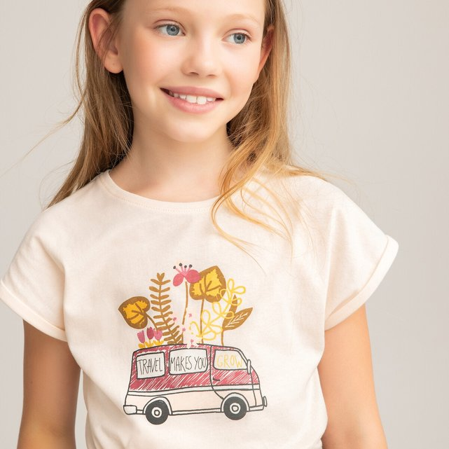 T-shirt από οργανικό βαμβάκι με μοτίβο μπροστά