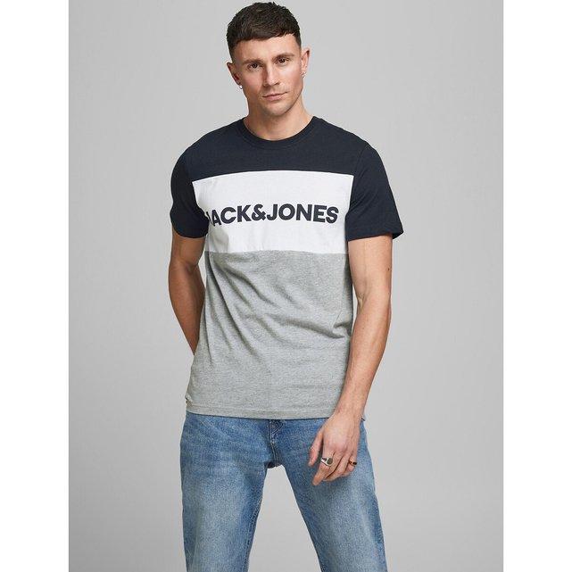 Κοντομάνικο T-shirt με λογότυπο, Blocking