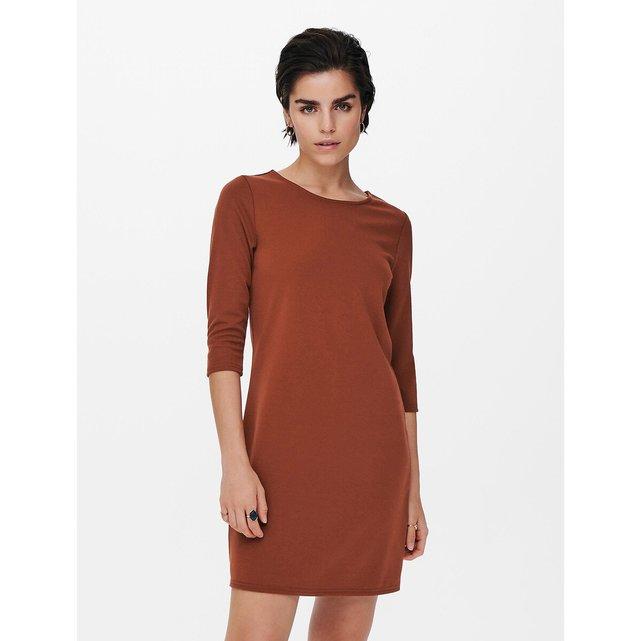 Ίσιο φόρεμα με μανίκια 34