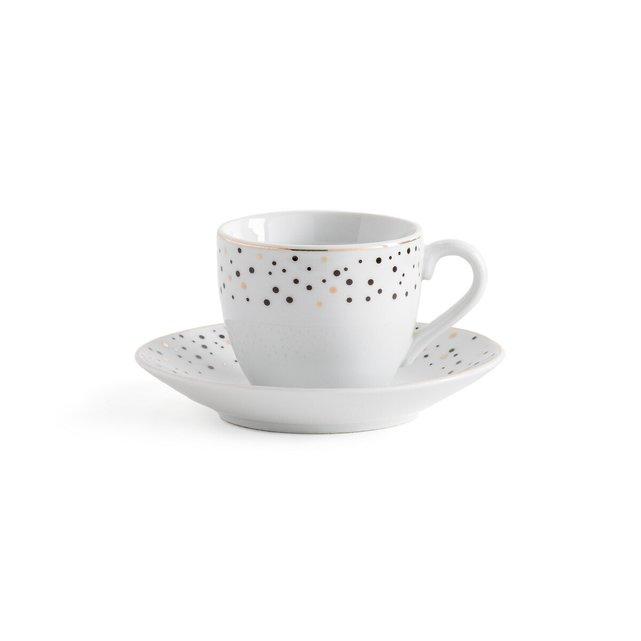 Σετ 4 φλιτζάνια καφέ από πορσελάνη, Festa