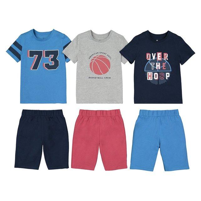 Σετ 3 πιτζάμες με σορτς από οργανικό βαμβάκι, 3-14 ετών