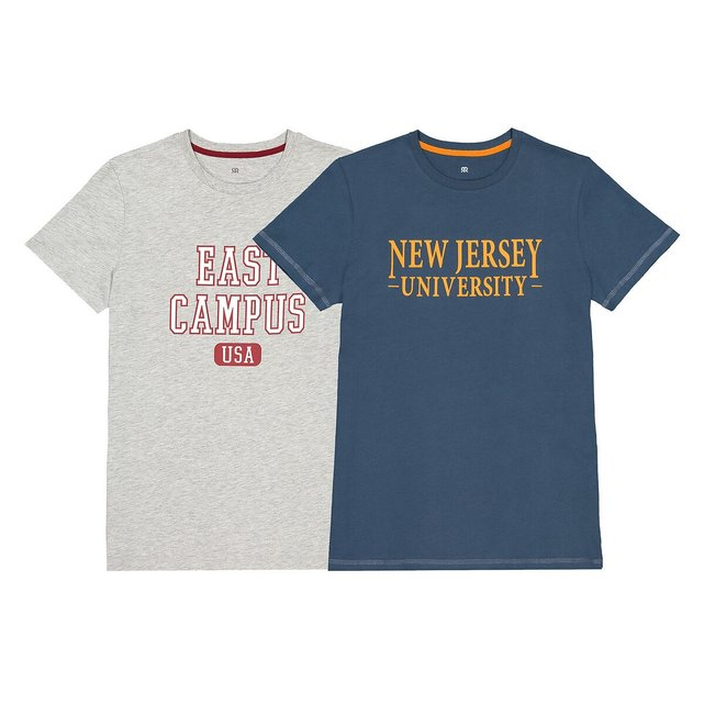 Σετ 2 T-shirt με στρογγυλή λαιμόκοψη, 10 -18 ετών