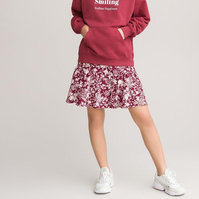 Σορτς-φούστα με φλοράλ μοτίβο, 10-18 ετών