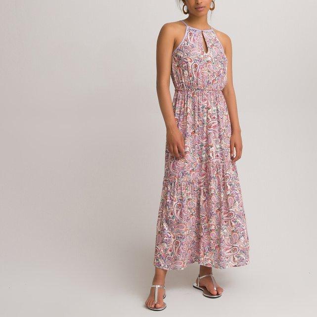 Αμάνικο μάξι φόρεμα