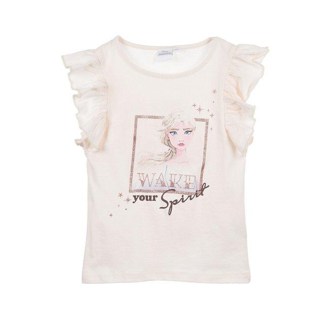 Κοντομάνικη μπλούζα με βολάν, 4-8 ετών